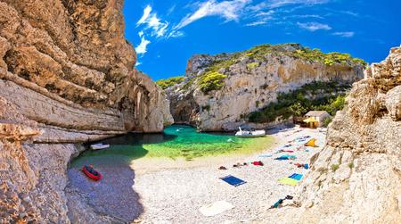 desert island: Amazing Stinva beach of Vis island, Dalmatia, Croatia