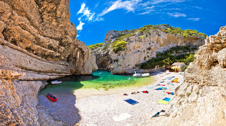 Amazing Stinva beach of Vis island, Dalmatia, Croatia