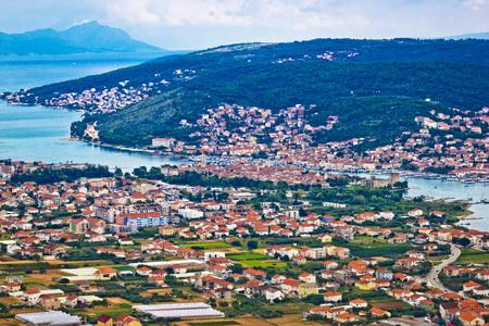 kornat: Trogir and Ciovo island aerial view, Dalmatia, Croatia