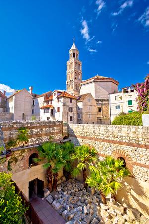 Split historic architecture vertical view, Croatia