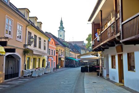 Old hitoric Zagreb street view, capital of Croatia