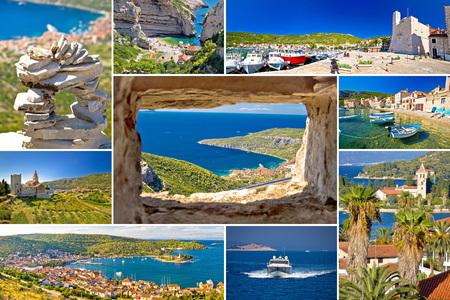 dalmatia: Island of Vis tourist collage, Dalmatia, Croatia