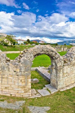 roman amphitheater: Solin ancient roman amphitheater ruins, Dalmatia, Croatia