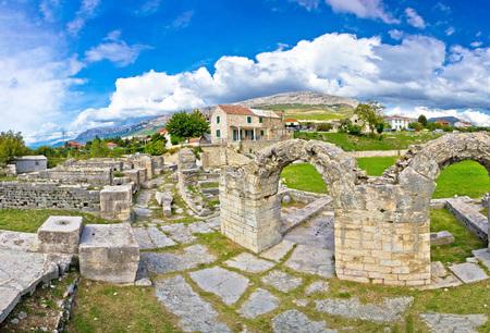 dalmatia: Ancient ruins of Solin view, Dalmatia, Croatia