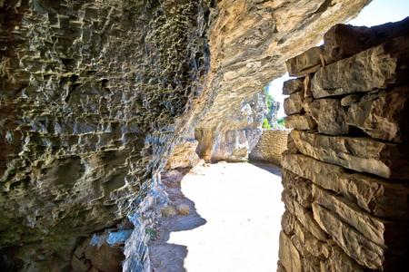 hideout: Secret Titos World War II hideout cave on Vis island, Croatia
