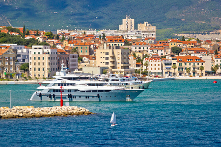 yachting: City of Split yachting waterfront, Dalmatia, Croatia Stock Photo