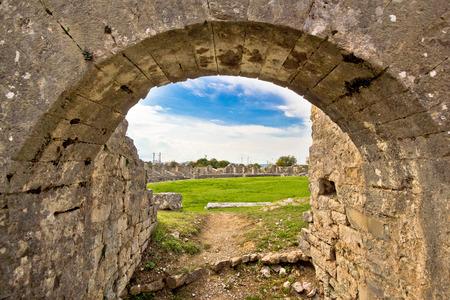 dalmatia: Solin ancient arena old ruins, Dalmatia, Croatia