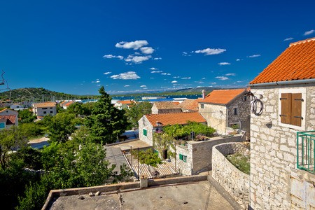 betina: Town of Betina architecture and coast, Island of Murter, Croatia Stock Photo