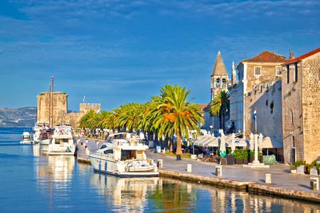 Historic Trogir waterfront architecture view, Dalmatia, Croatia