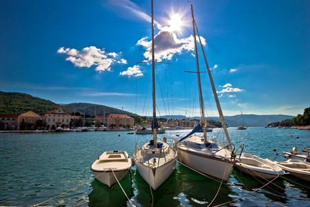grad: Stari Grad on Hvar island sailing destination, Dalmatia, Croatia