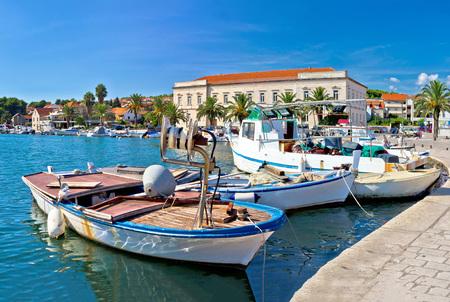 pescador: Fishing boat in Stari Grad harbor, Island of Hvar, Croatia