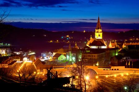 saint mary: Marija Bistrica marianic shrine evening view