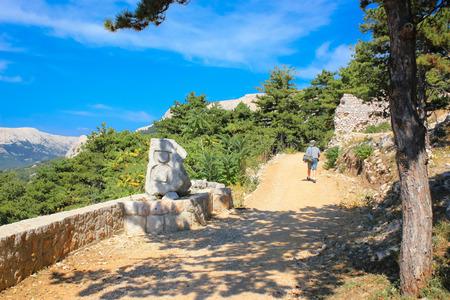 krk: Island of Krk Moon Plateau trail, Croatia Stock Photo