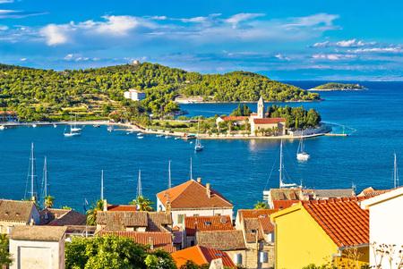 Harbor of Vis island panorama, Dalmatia, Croatia