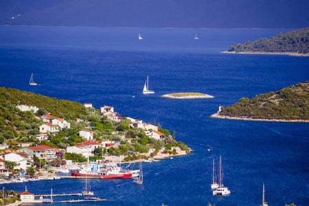 dalmatia: Blue sailing bay in Vinisce, Dalmatia, Croatia