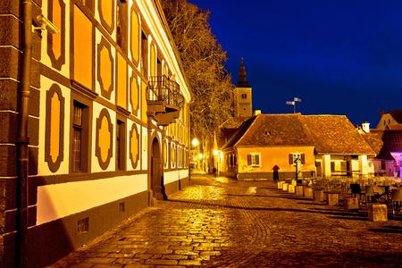 baroque architecture: Baroque architecture of old Varazdin town, square view, northern Croatia
