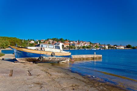 Island of Ugljan old boat by the sea, Dalmatia, Croatia