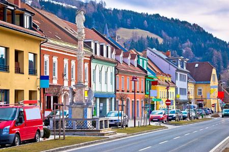 Town of Bad sankt Leonhard im Lavanttal colorful streetscape, Carinthia, Austria