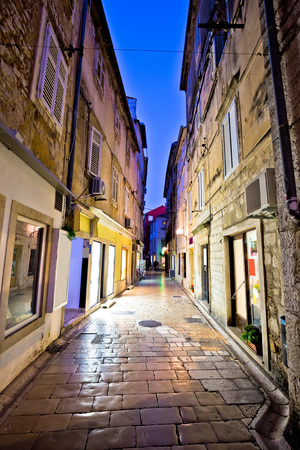 dalmatia: Old stone street of Zadar evening view, Dalmatia, Croatia