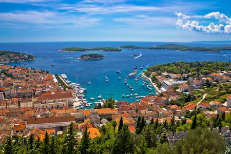 hellish: Island of Hvar bay aerial view, Dalmatia, Croatia