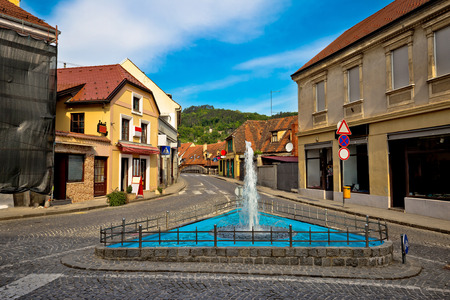 historic architecture: Town of Samobor historic architecture and fountain, northern Croatia