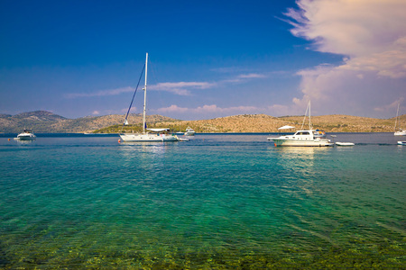 kornati national park: Kornati islands national park yachting view, dalmatia, Croatia