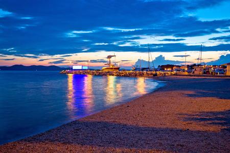 dalmatia: Zadar beach and marina evening view, Dalmatia, Croatia