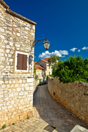starigrad: Stone architecture of Stari Grad on Hvar island, Dalmatia, Croatia Stock Photo