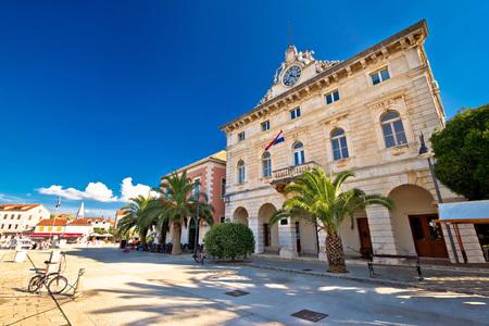 starigrad: Town of Stari Grad waterfront architecture, island of Hvar, Croatia