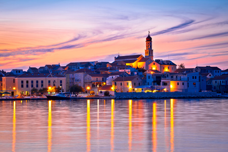 betina: Old mediterranean town of Betina sunset view, Island of Murter, Croatia