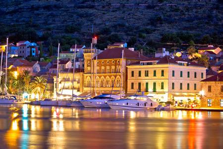 dalmatia: Yachting destination of Vis island evening view, Dalmatia, Croatia
