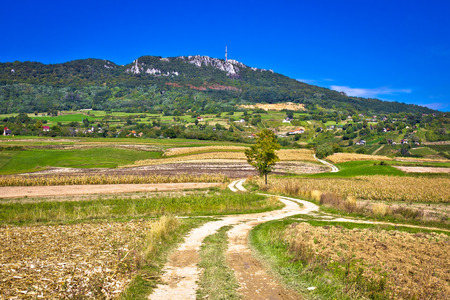 kalnik: Idyllic landscape of Kalnik mountain, region of Prigorje, Croatia