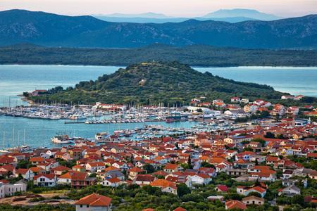kornati national park: Island of Murter marina and bay view, Dalmatia, Croatia