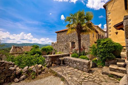 hum: Town of Hum old mediterranean street and architecture, Istria, Croatia