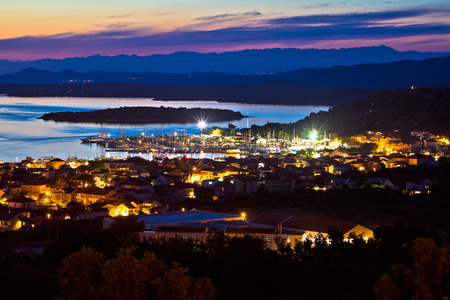 betina: Island of Murter sailing destination archipelago sunset view, Dalmatia, Croatia
