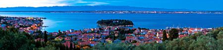 croatian: Island of Ugljan evening panorama, Dalmatia, Croatia
