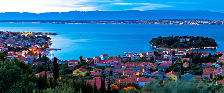 Island of Ugljan evening coast panorama, Dalmatia, Croatia