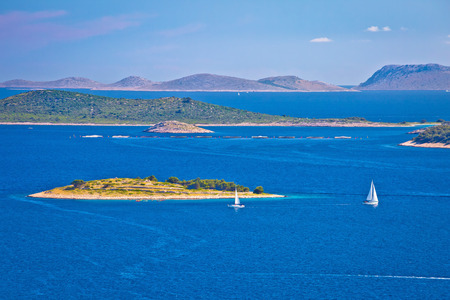kornati: Kornati national park archipelago view, sailing deatination in Croatia Stock Photo