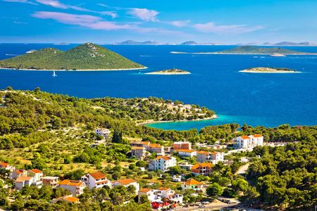 kornat: Kornati islands national park view from Drage village, Dalmatia, Croatia Stock Photo