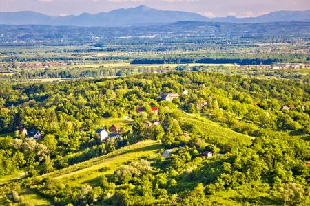 Zumberak hills green landscape view, northern Croatia