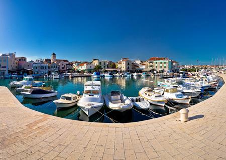 dalmatia: Town of Vodice waterfront panorama, Dalmatia, Croatia Stock Photo