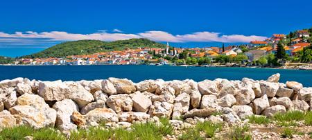 Town of Kali panoramic view, Island of Ugljan, Croatia