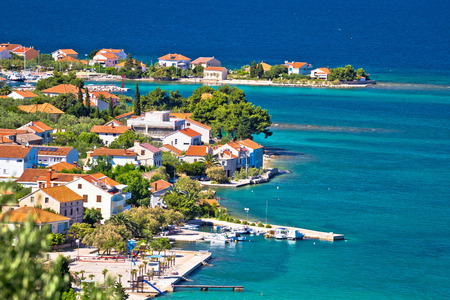 Island of Ugljan scenic coast and beach, Dalmatia, Croatia Stock Photo