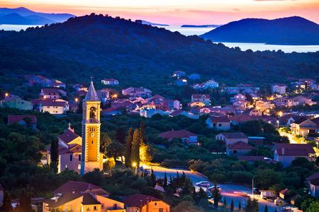 betina: Town of Murter evening view, Dalmatia, Croatia
