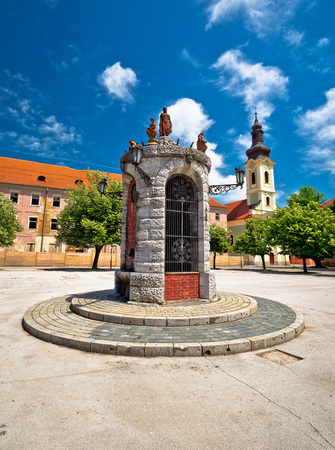 central square: Town of Karlovac central square view, central Croatia