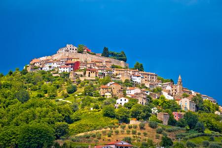 Town of Motovun on picturesque hill, Istria, Croatia Banco de Imagens