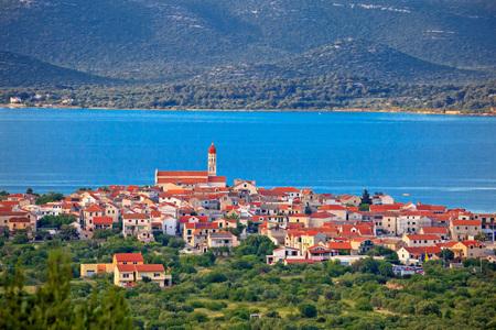 betina: Historic town of Betina skyline view, island of Murter, Croatia