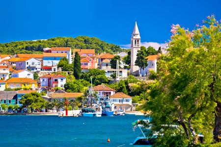 Kali harbor and waterfront summer view, Island of Ugljan, Croatia