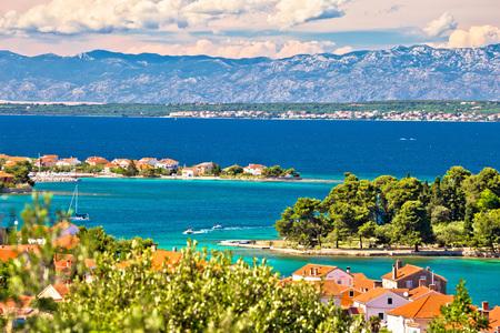 Zadar islands archipelago and Velebit mountain view, Preko, Dalmatia, Croatia Stock Photo