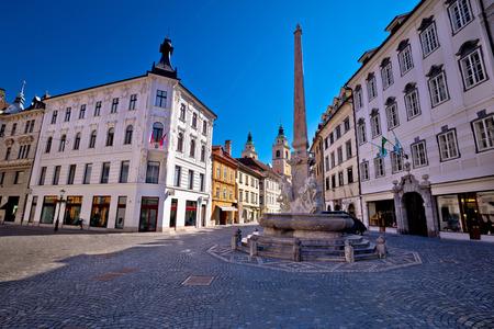 old center: City of Ljubljana old center, capital of Slovenia Stock Photo